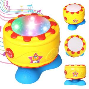 tambour musical tournant avec lumière