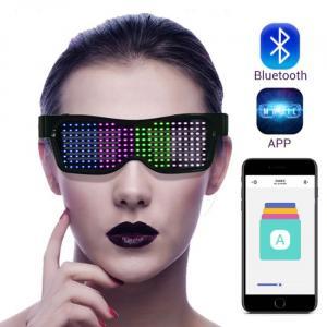 Lunettes Bluetooth LED connectées aux smartphones