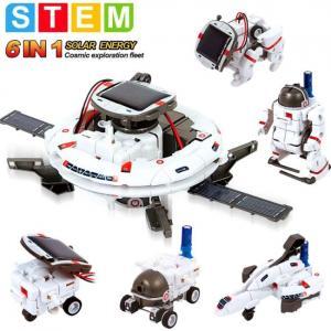 Kit de robot solaire éducatif 6 en 1 de STEM