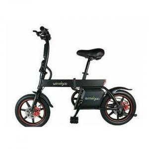 Vélo électrique noir pliable facile