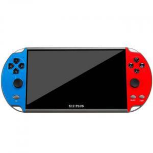 Rouge et Blue console de jeu portable puissante prenant en charge les jeux PS1 et SNES