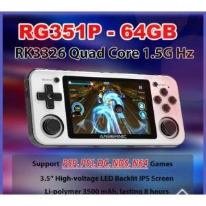 console de jeux portable avec jeux PS1 et N64 avec vibrateur