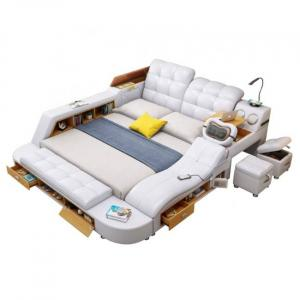 lit de massage blanc intelligent avec de multiples fonctions