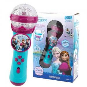 Microphone karaoké stéréo portable Frozen 2 avec musique - Paquet