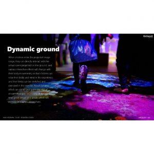 sol de projection interactif avec de nombreux jeux